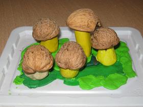 осенние поделки из грецких орехов