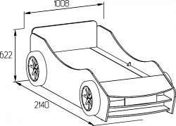 Кровать машина своими руками чертеж