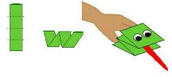 Легкая поделка из бумаги лягушка