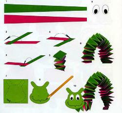Поделка из бумаги гусеница инструкция