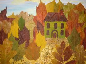 Создаем прекрасные картины из осенних листьев с детьми