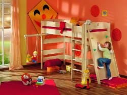 Двухъярусная кровать со спортуголком
